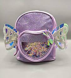 Детский рюкзак с крыльями 4 цвета -  сиреневый