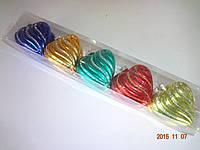 """Игрушка елочная """"Шар Сердце в колбе"""" (упаковка 10 шт, цвета в ассортименте), фото 1"""