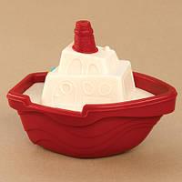 Игрушка для игры с песком и водой - МИНИ-КОРАБЛИК (цвет томатный)