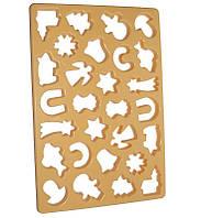 """Форма Cookie Cutter для вирубки печива """"Різдво"""" 28 осередків 33х23см"""