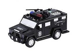 Копилка-сейф электронная с кодовым замком и отпечатком Hummer Машинка полицейская