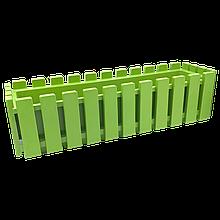 Горщик для квітів балконний IRAK PLASTIK Akasya 11 л Зелений