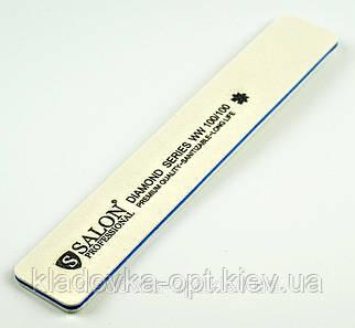Пилка для ногтей широкая прямая Salon Professional 100/100