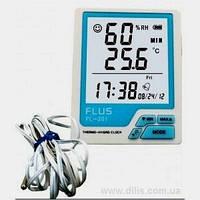 Термогигрометр бытовой Flus FL-201W с внешним датчиком