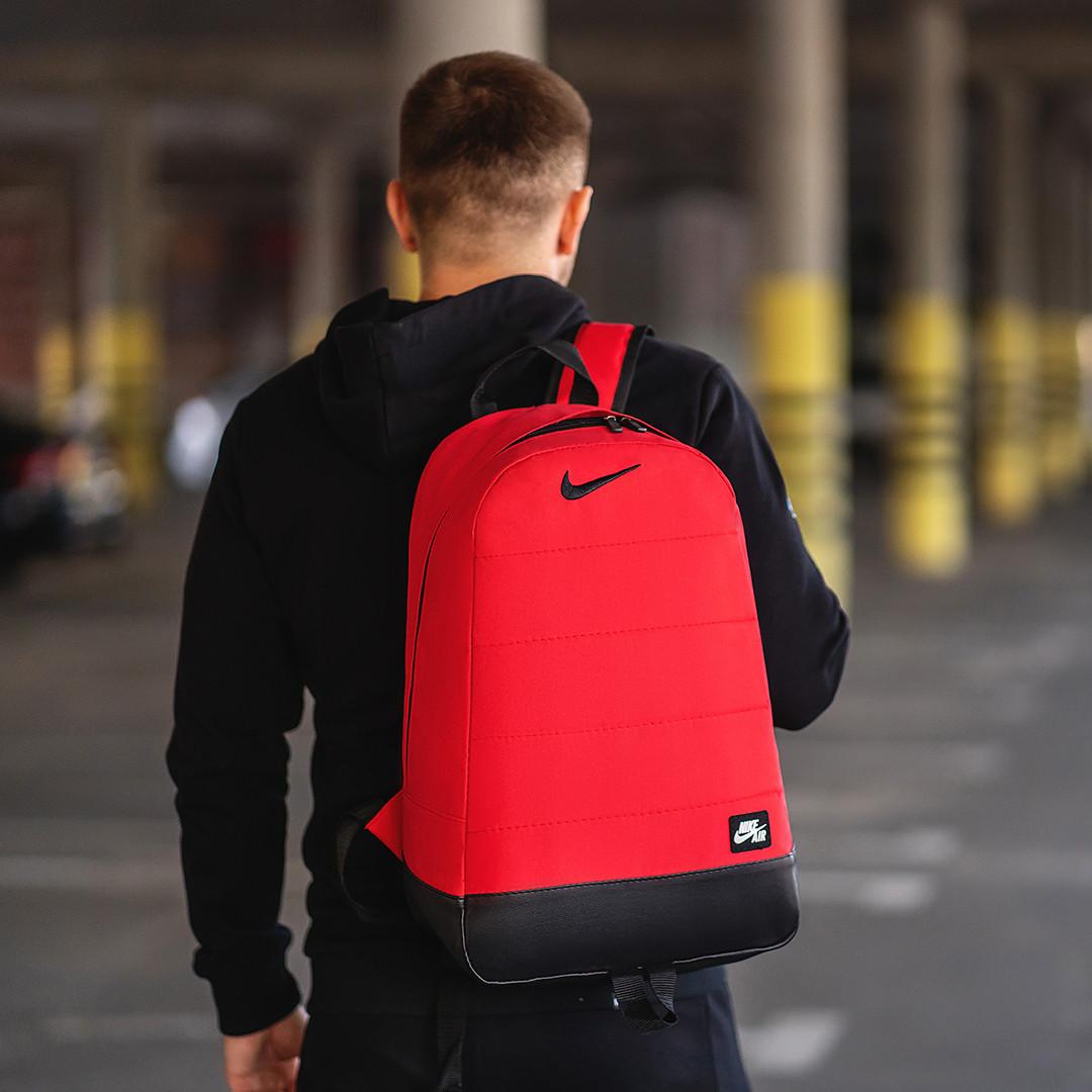Спортивный стильный городской рюкзак Nike, молодежный рюкзак для тренировок, учебы, работы, цвет красный