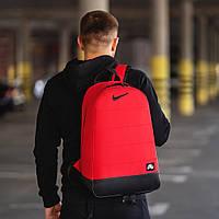 Спортивный стильный городской рюкзак Nike, молодежный рюкзак для тренировок, учебы, работы, цвет красный, фото 1