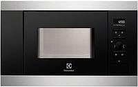 Микроволновая печь Electrolux EMS 17006 OX (встраиваемая СВЧ, 800 Вт, 17 л, серебристая, електролюкс )