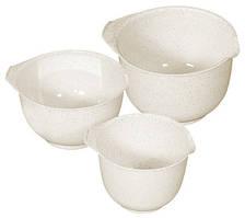 Миски (набор) пластиковые 3 шт кремовые (22, 19, 17 см) Curver CR-0116