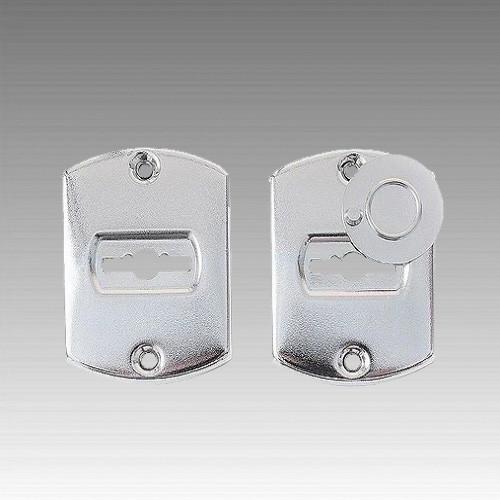 Комплект накладок  НП1-005 (под сувальдный ключ, цвет «никель»)