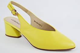 Босоножки с заостренным носком Geronea 84402 40 Желтые кожа