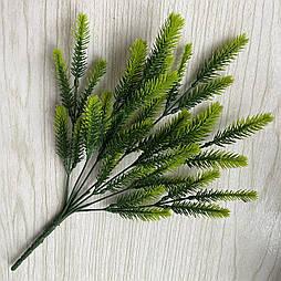 Искусственные цветы Куст зеленой добавка пластик 35 см
