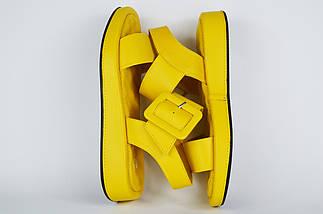 Босоножки с пряжкой Guero 16112 39 Желтые кожа, фото 3