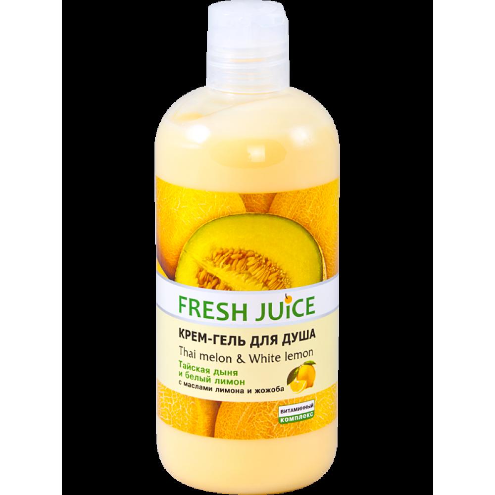 Крем-гель для душа Тайская дыня и белый лимон 500 мл Fresh Juice