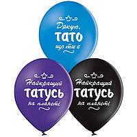 """Латексный шар Everts Пастель Найкращий тато  5 шт 12"""" 30 см"""