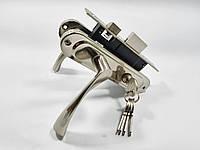 Комплект замка для входной и межкомнатной двери (ручки матовый никель)
