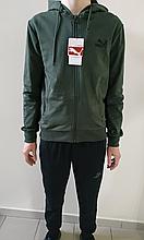 Спортивный костюм Puma хаки трикотаж