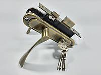 Комплект замка для входной и межкомнатной двери (ручки старая бронза)