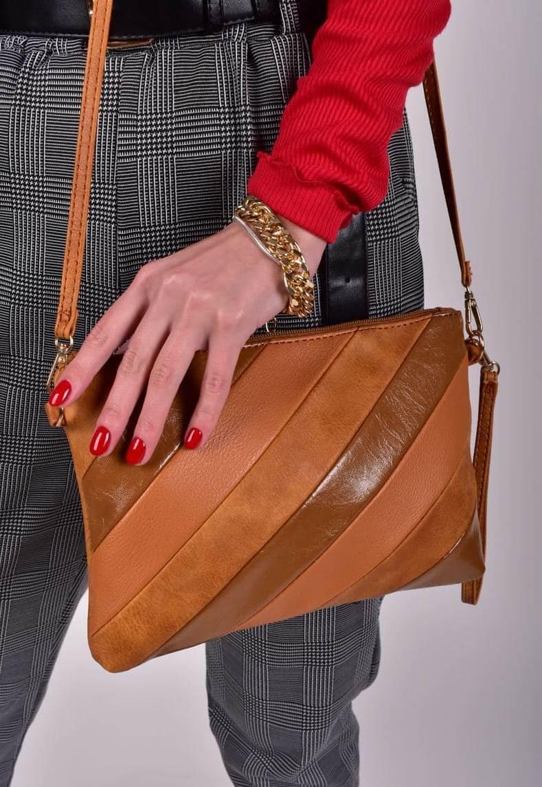 Жіноча руда сумка клатч код 7-7027
