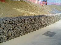 Подпорные стены из габионов, Укрепление склонов