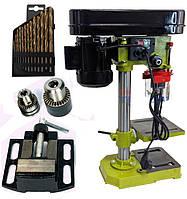Copy Сверлильный станок Eltos HCC-1500 (1500 Вт, 5 скоростей) тиски,два патрона,набор сверл в комплекте