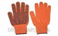 Перчатки защитные х/б оранжевые