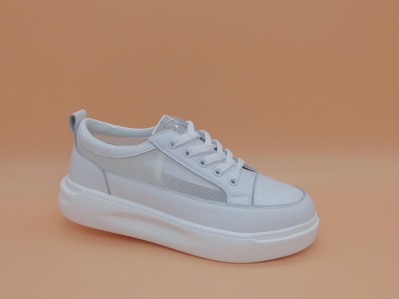 Кроссовки кеды белые.