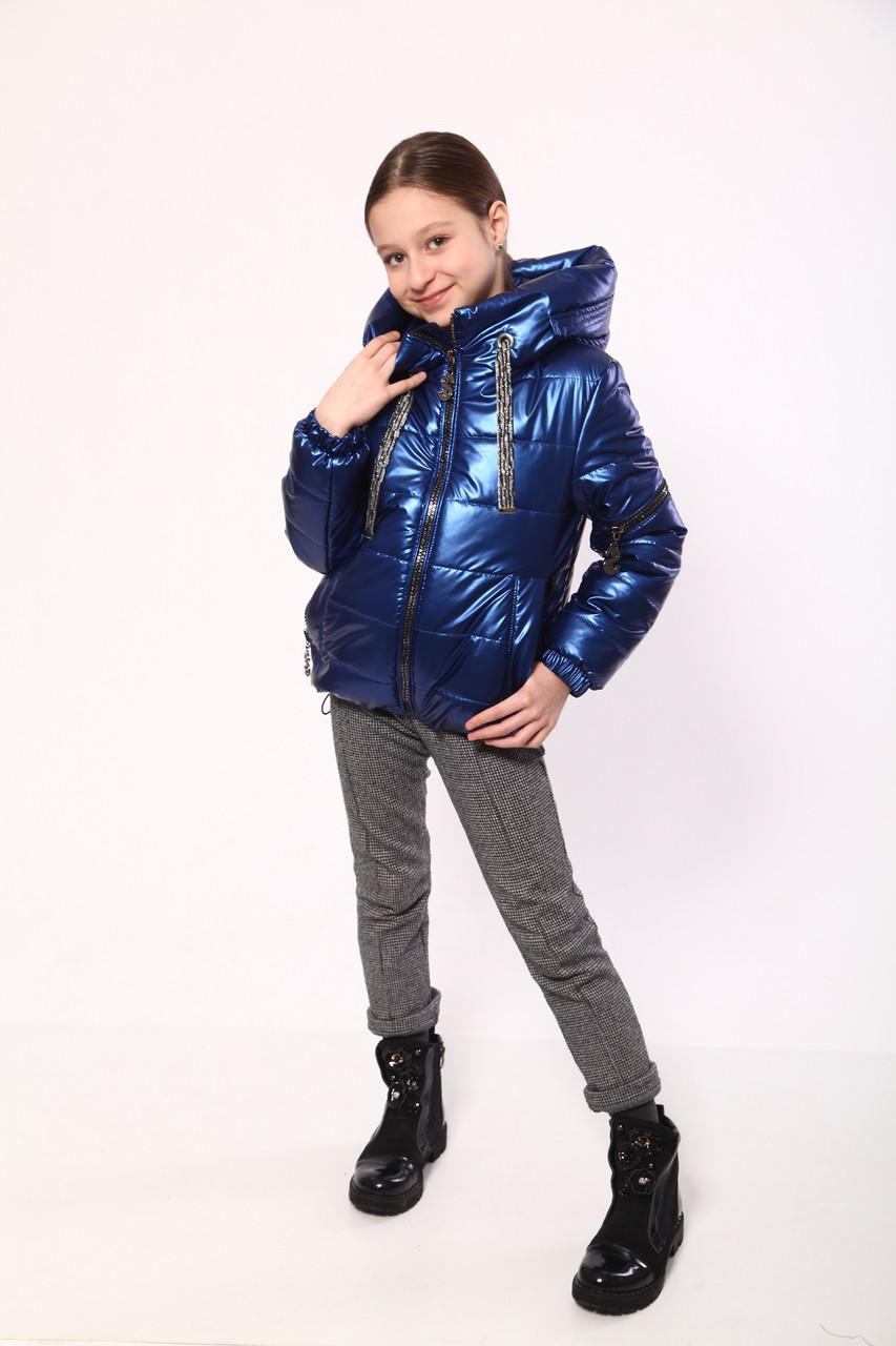 Куртка на девочку 134-158 электрик
