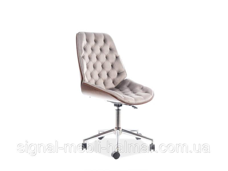 Кресло компьютерное  ARIZONA VELVET серый(Signal)