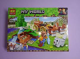 """Конструктор My World Bela Скарбниця в лісі біля водоспаду """"162 деталі"""
