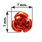Набор Пайетки Розы Объемные Красные 20 штук Диаметр 7 мм, Декор для Шитья и Рукоделия., фото 2