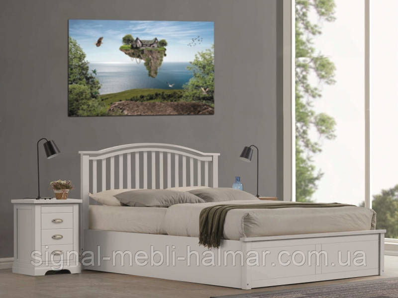 Ліжко MADERA 160x200 білий(Signal)