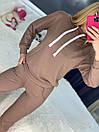 Спортивный костюм с худи и штанами на высокой посадке с манжетами женский свободный (р. 42 - 50) 85so1196, фото 3