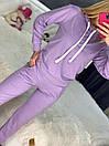 Спортивный костюм с худи и штанами на высокой посадке с манжетами женский свободный (р. 42 - 50) 85so1196, фото 5