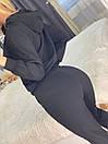 Спортивный костюм с худи и штанами на высокой посадке с манжетами женский свободный (р. 42 - 50) 85so1196, фото 7