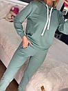 Спортивный костюм с худи и штанами на высокой посадке с манжетами женский свободный (р. 42 - 50) 85so1196, фото 9