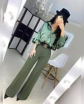Жіноча сорочка з об'ємним рукавом з шовку 42-44 р, фото 3