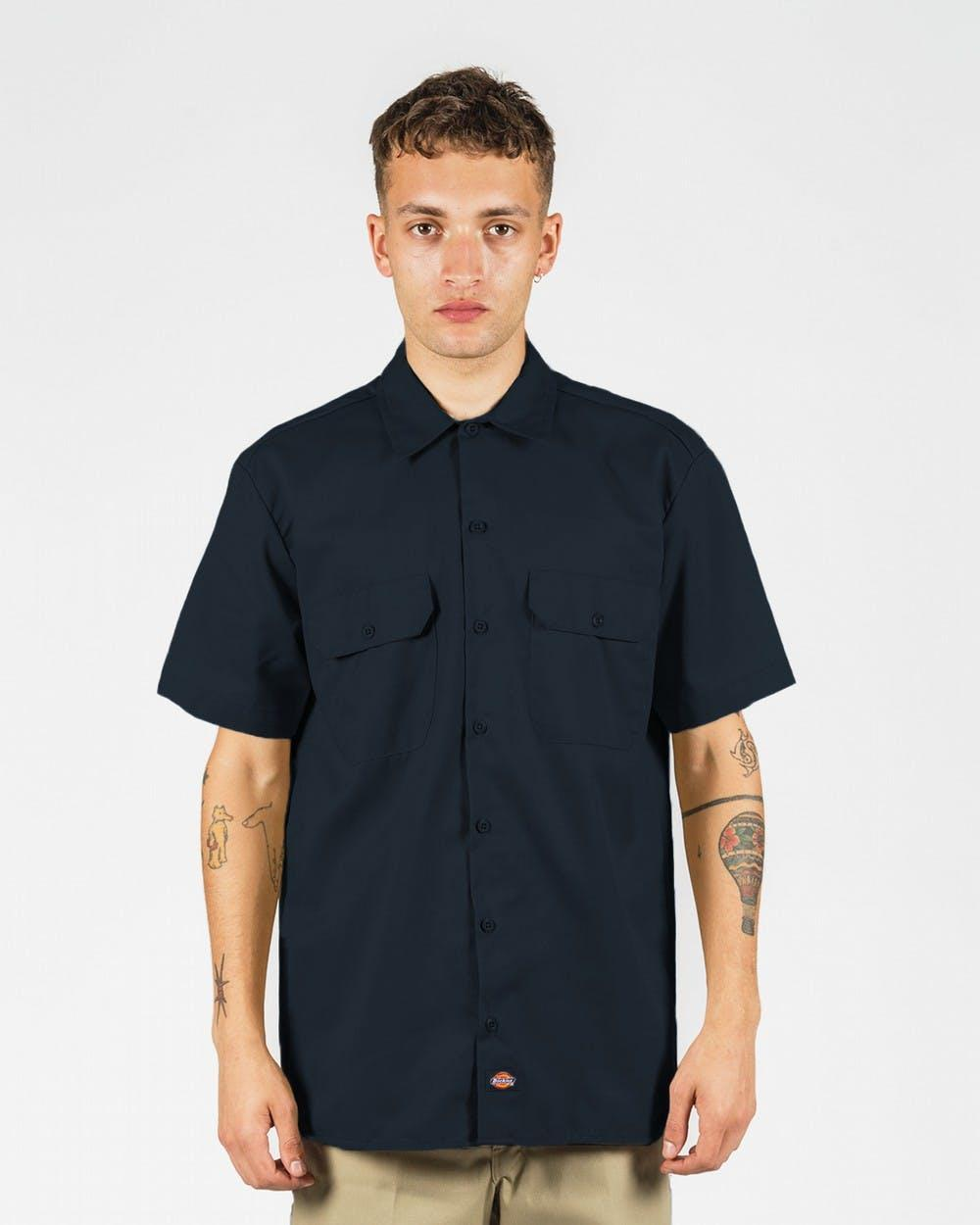 Рубашка Dickies Short Sleeve Work Shirt, Dark Navy