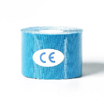 Кинезиологический тейп, кинезио тейп 5cм*5м 🍓 (MR) Голубой