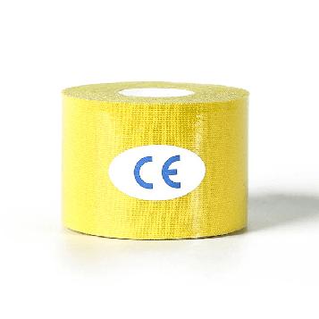 Кинезиологический тейп, кинезио тейп 5cм*5м 🍓 (MR) Жёлтый