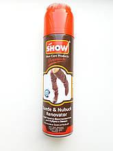 Спрей краска-восстановитель для нубука и замши SHOW коричневый