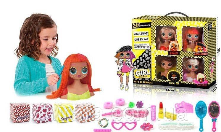 Лялька-манекен для зачісок ЛОЛ ЛОЛ з аксесуарами / голова-манекен