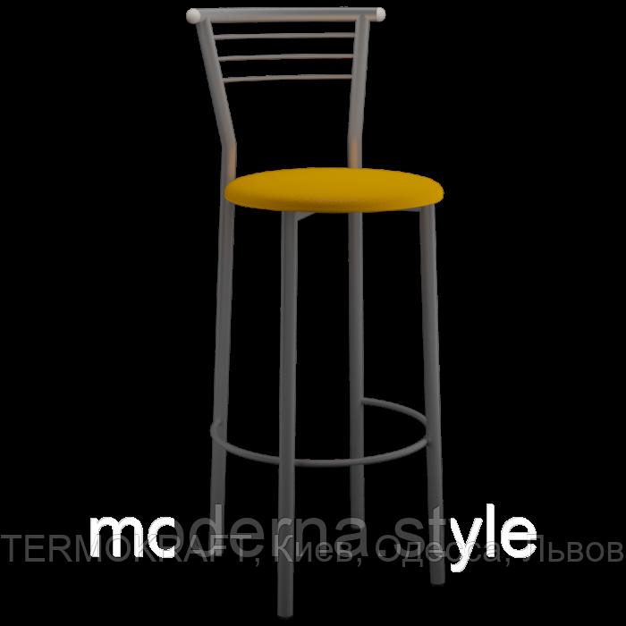 Стул  Марко Хокер alum   кожзам оранжевый для кухни, бара, летней площадки