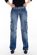 Джинсы женские Franco Benussi 2152 с накладными карманами синие