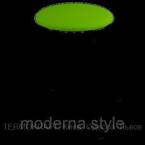 Табурет 2710  black кожзам салатовий