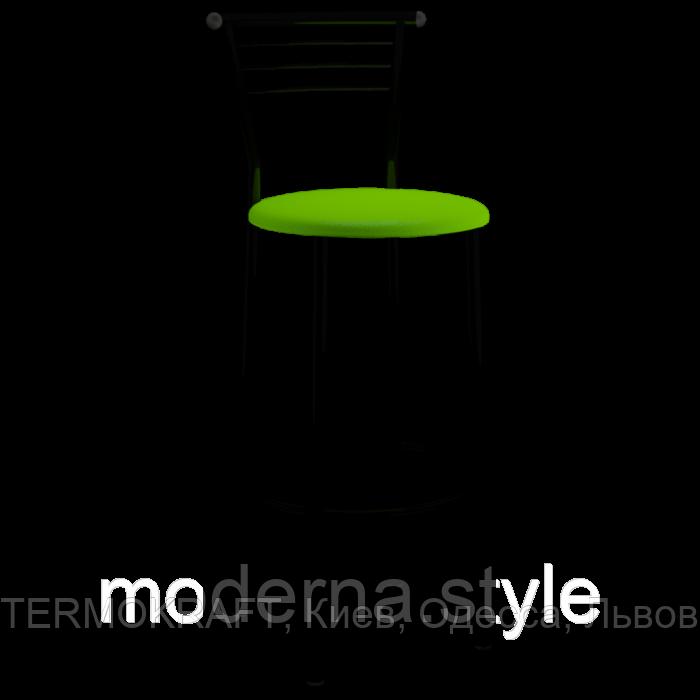 Стул барный  Марко Хокер black кожзам салатовый для кухни, бара, летней площадки