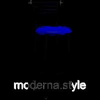 Стул барный Марко Хокер black кожзам синий для кухни, бара, летней площадки