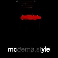 Стул барный Марко Hoker black кожзам красный для кухни, бара, летней площадки