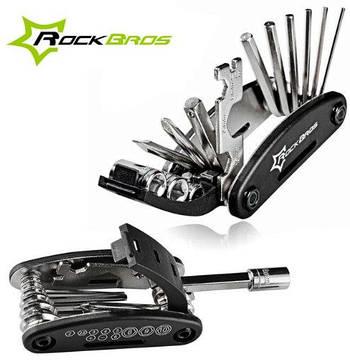 Велосипедный ключ отвертка ROCKBROS RB-GJ1601 Мультитул многофункциональный набор инструментов для ремонта
