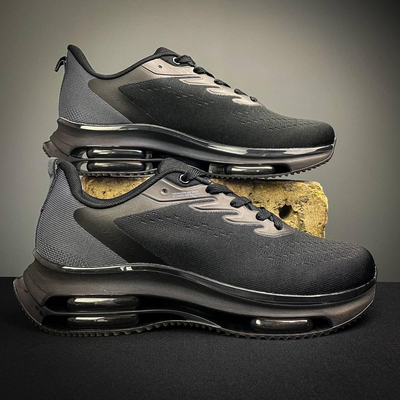 Мужские кроссовки в стиле Ривал  (черные) 40-45 код 1235-1