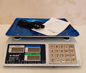 Весы электронные торговые  до 50 кг А-Плюс с металлическими кнопками